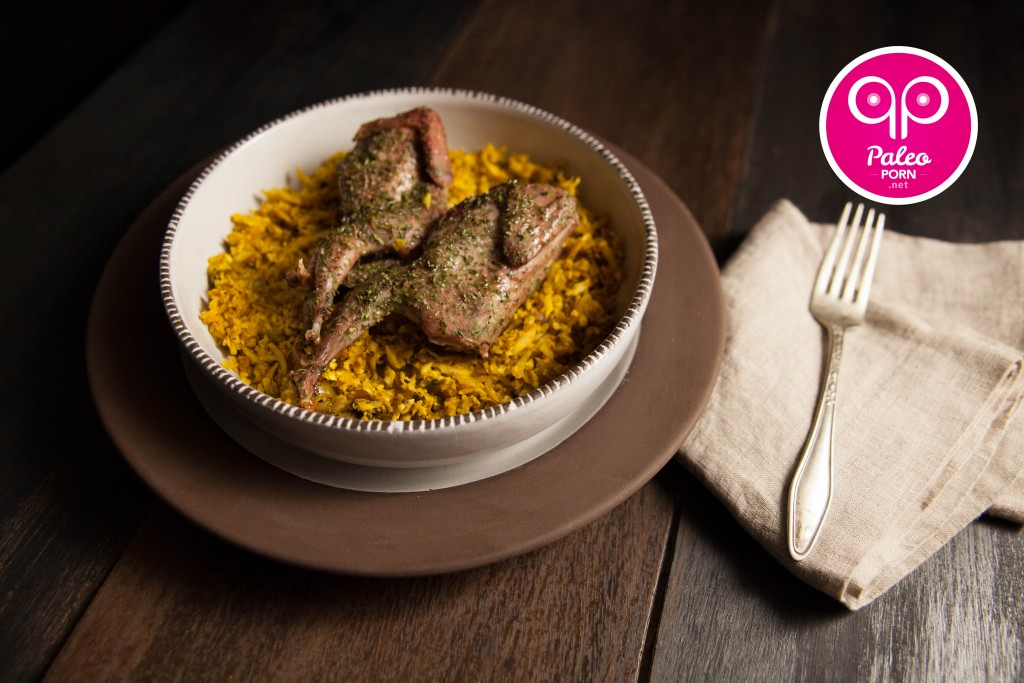 Paleo Quail with Dirty Rice