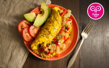 Paleo Recipe Paleo Breakfast Omelet with Red Pepper