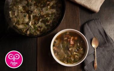 Paleo Recipe Lemon, Mushroom & Ham Steak Paleo Soup