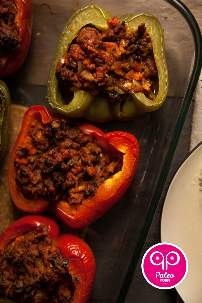 Greek Paleo Stuffed Peppers