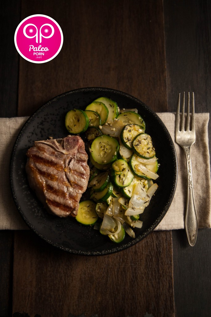 Lamb Loin Chops with Zucchini