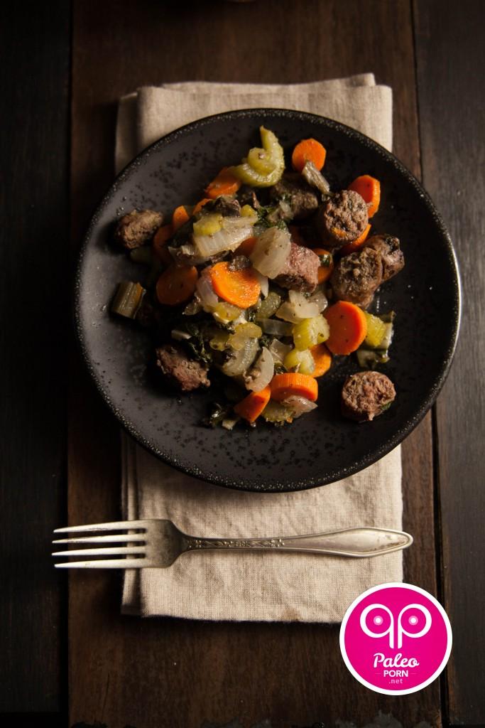 Paleo Beef Polish Sausage Casserole