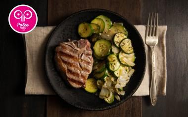 Paleo Recipe Lamb Loin Chops with Zucchini