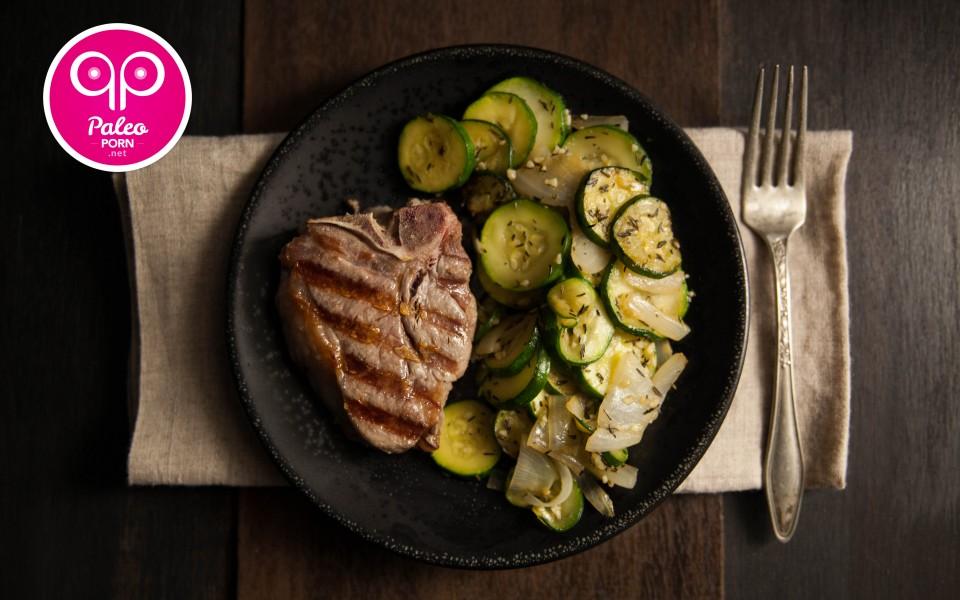 lamb loin chops paleo recipe Lamb Loin Chops with Zucchini