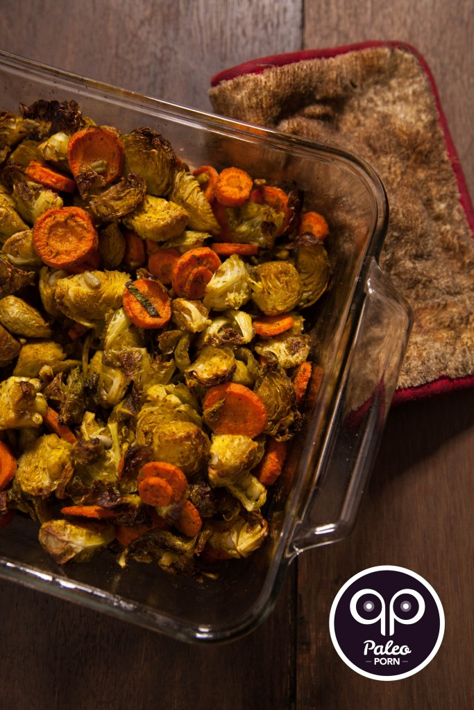 ​Indian Spiced Brussels & Carrots