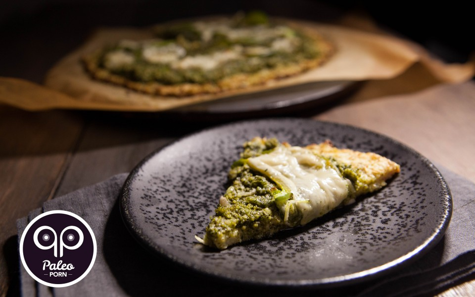 Paleo Recipe Paleo Cauliflower Pizza Crust with Pesto