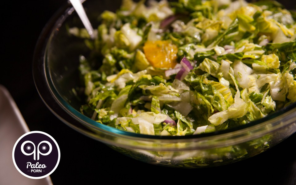 Paleo Recipe Romaine Salad with Orange and Fennel