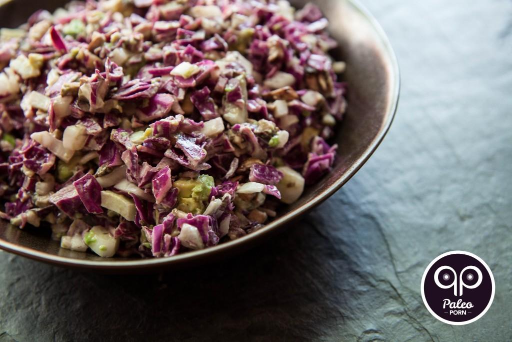 Creamy Purple Paleo Coleslaw