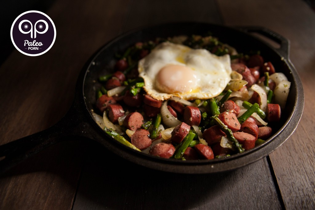 Paleo Breakfast Stir-Fry with Hot Dogs