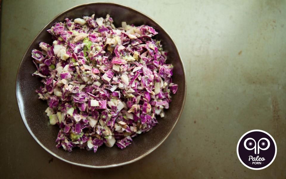 Paleo Recipe Creamy Purple Paleo Coleslaw