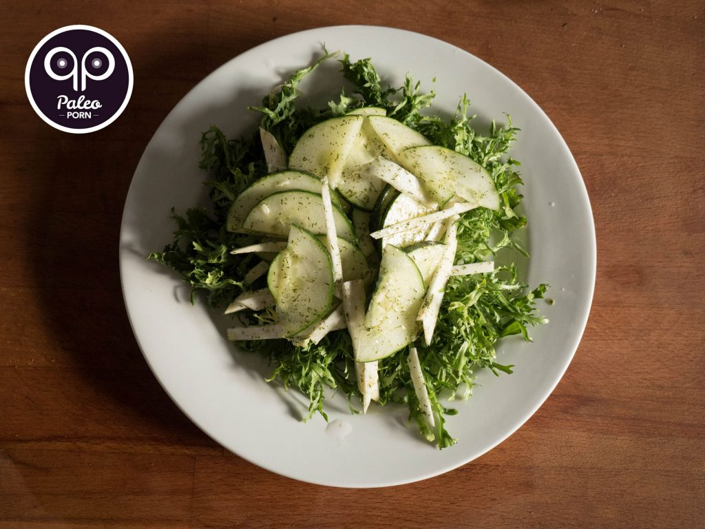 Frisée Salad with Cucumber