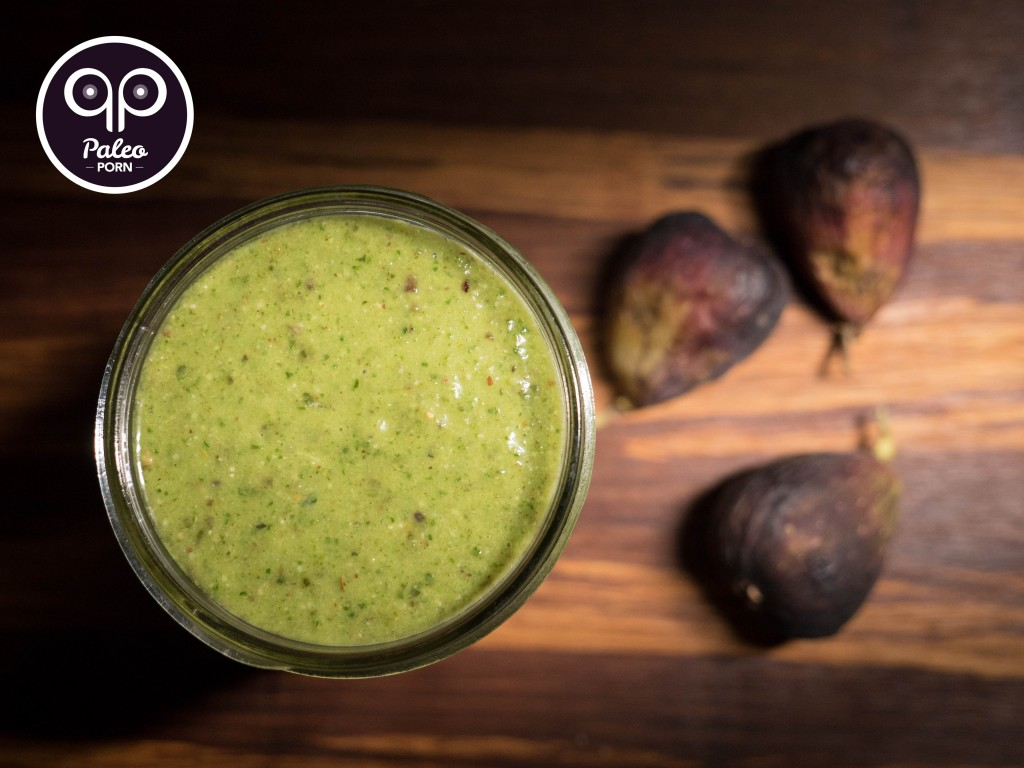 Paleo Green Fig and Mint Smoothie