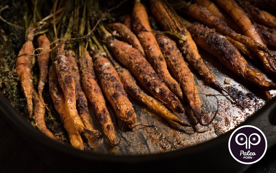 Paleo Recipe Whole Roasted Carrots with Cinnamon