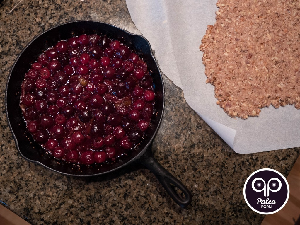 Cherry Crumble with Figs