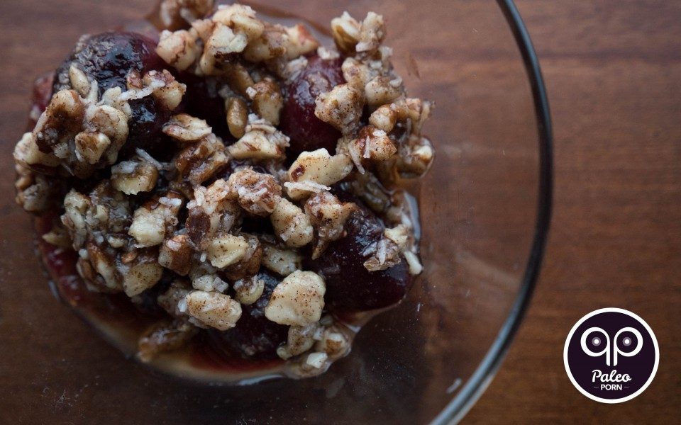 Paleo Recipe Cherry Crumble with Figs
