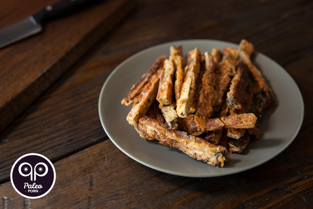 Breaded Paleo Eggplant Fries