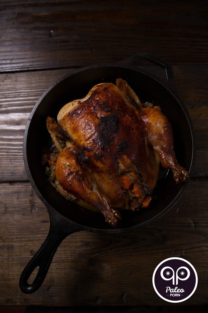 Cast Iron Whole Paleo Chicken with Rosemary