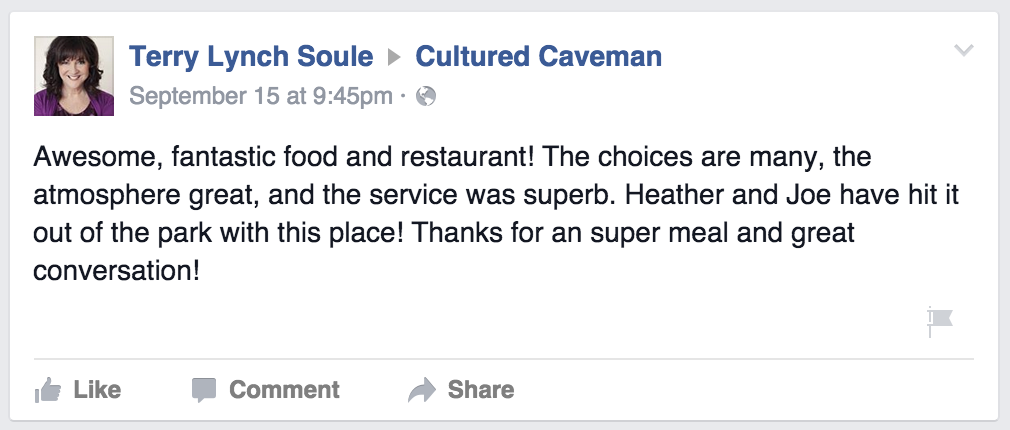 Cultured Caveman FB Praise