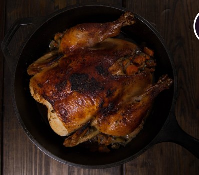 Paleo Recipe Cast Iron Whole Paleo Chicken with Rosemary