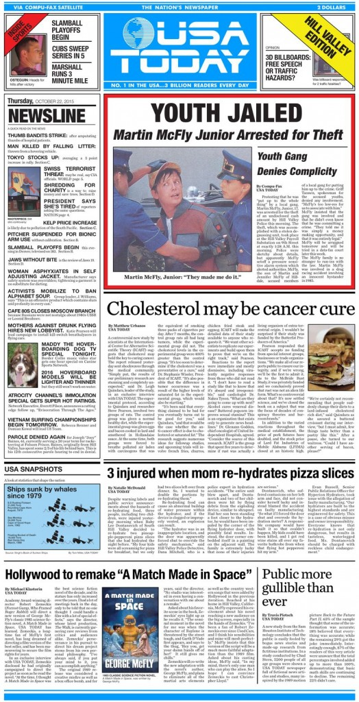 USA Today: Cholesterol may be cancer cure