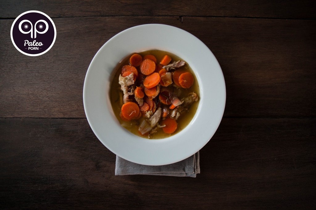 Carrot Ginger Roasted Chicken Paleo Soup