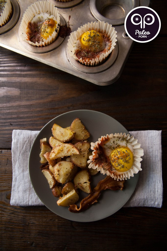 Duck Egg & Veggie Paleo Breakfast Muffins