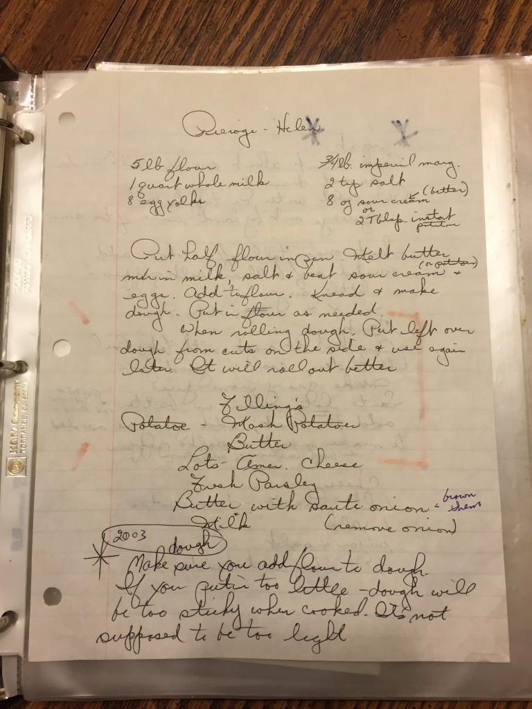Jessica's Grandma's Pierogi Recipe