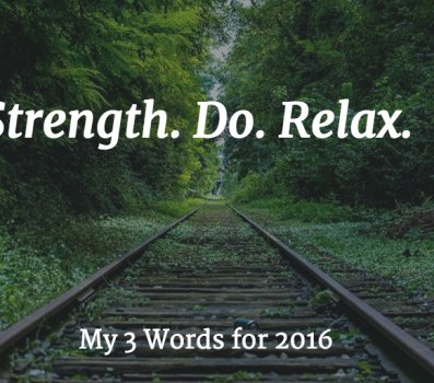 Marla's 3 Words for 2016