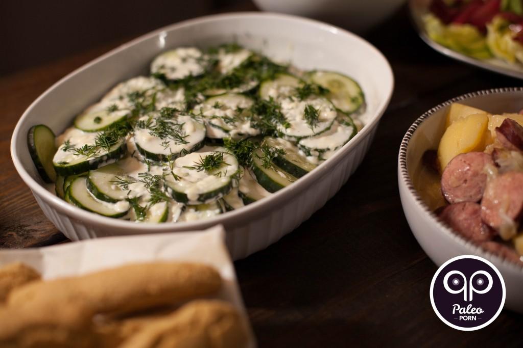 Paleo Cucumber Salad (Mizeria)