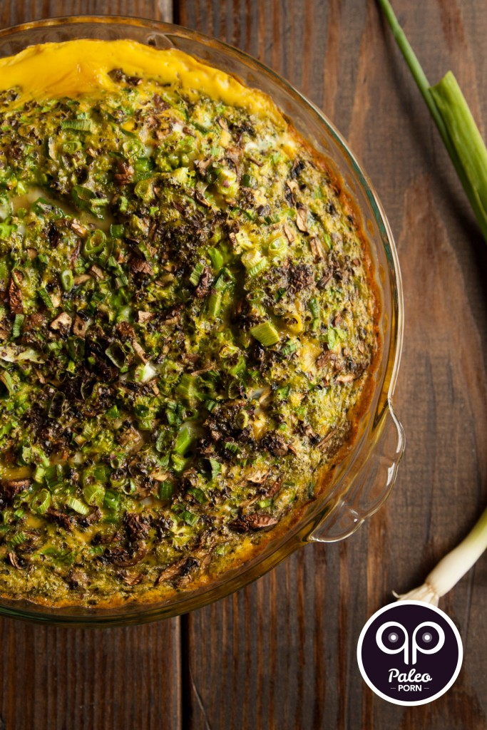 Paleo Broccoli Quiche with Lamb Crust