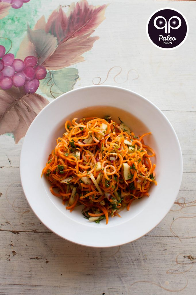 Winter Garden Spiralized Paleo Carrot Salad