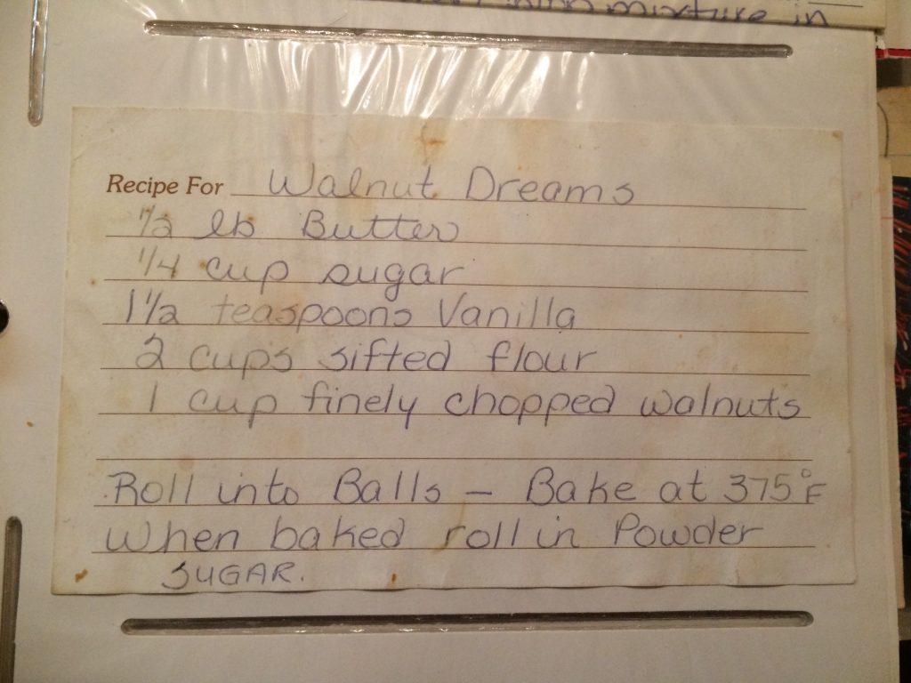 Walnut Dreams - Original Recipe