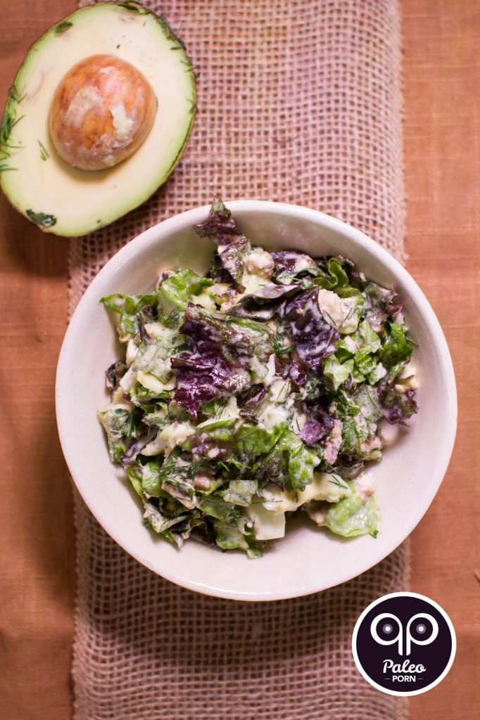 Paleo Recipe Romaine Salad with Sardines